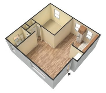 1 Bedroom 1 Bathroom. 625 sq. ft. 3D Unfurnished