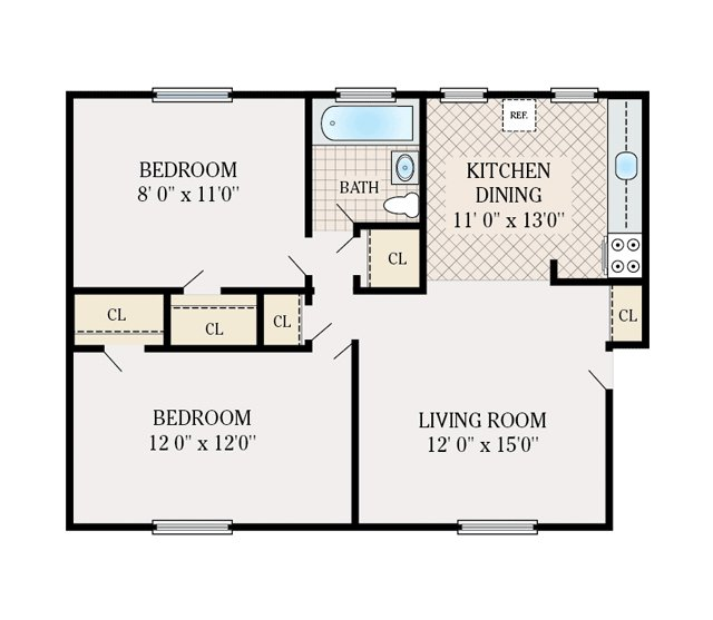 Floor plans corlies manor apartments for rent in for Home design 700 sq ft